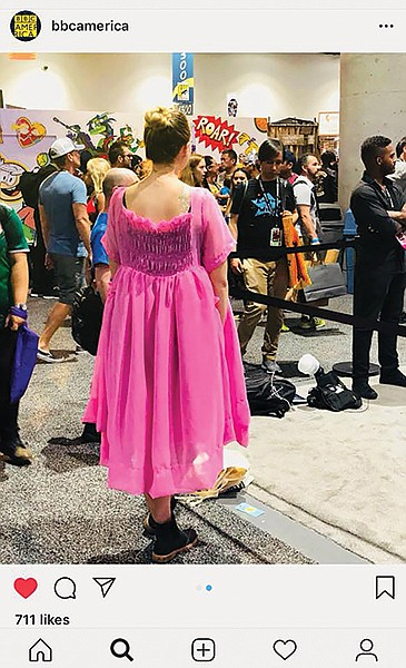 BBC America wanted Sew Loka to create a perfect copy of a pink dress from Killing Eve in time for Comi-con