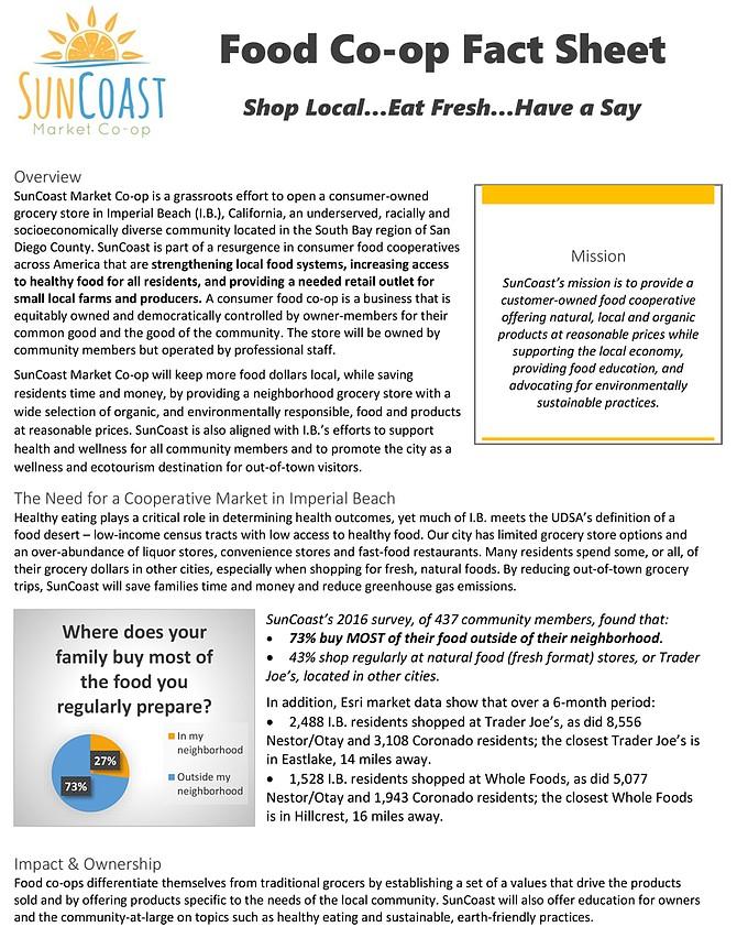 SunCoast Fact Sheet