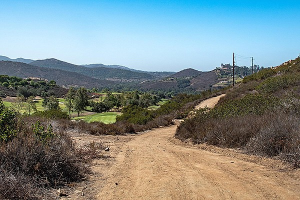 The trail descends toward Sycamore Creek