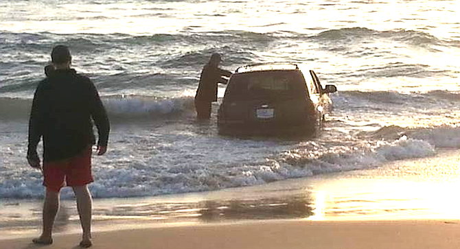 """""""The guy was joyriding then his car got stuck."""""""