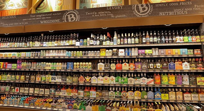 Two-thirds of the beers Baron's carries are local product.