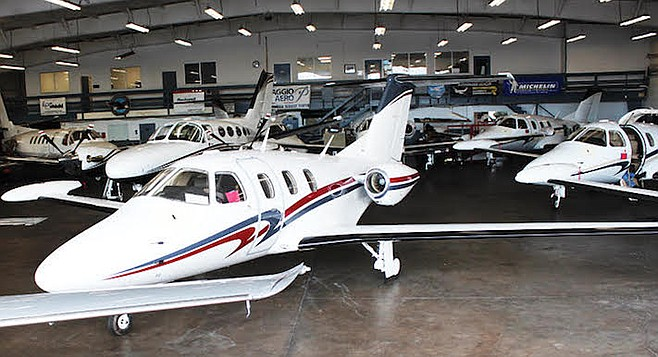 34132470091 Cate s event at CrownAir Aviation s private jet facility at Montgomery Field