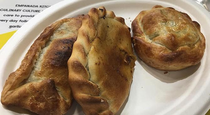 Empanada Kitchen sells empanadas for $3.50 each or three for $9.50.