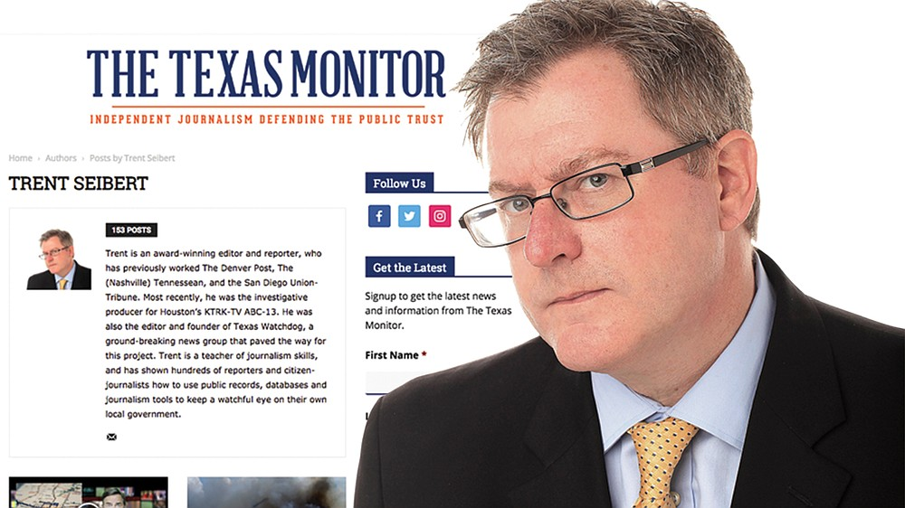 Trent Seibert, Texas Monitor website