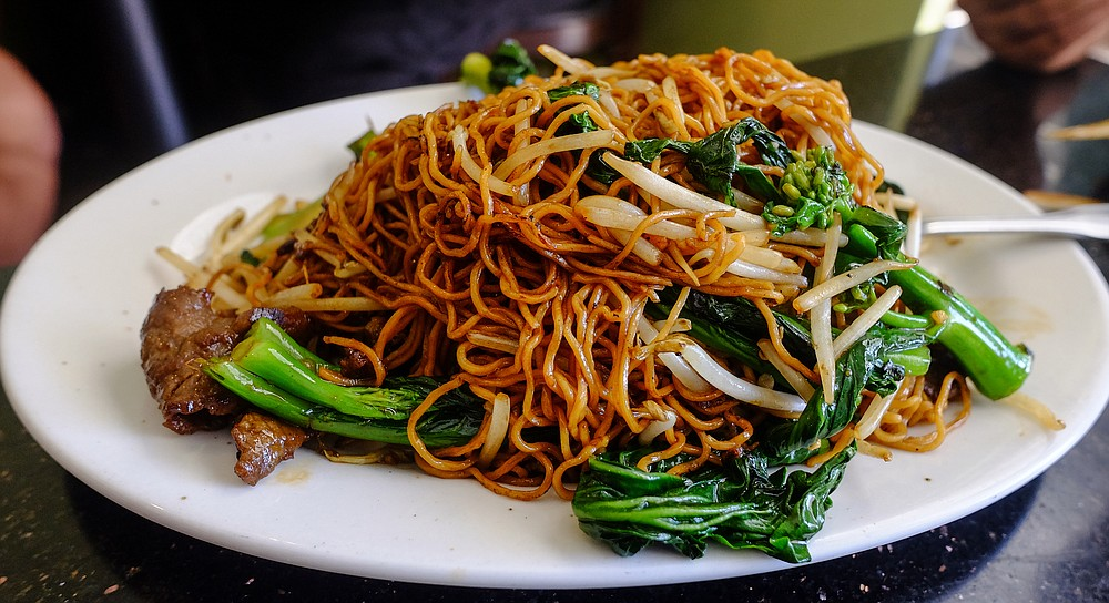 Chow mein, not to be confused with lo mein or chow fun