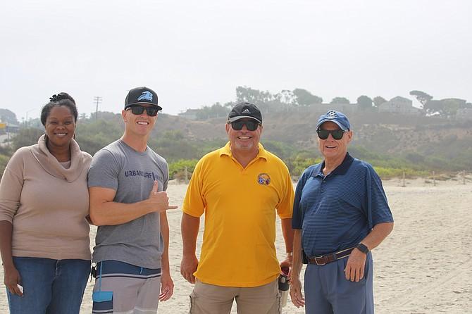 Encinitas Lions Club Board with Urban Surf 4Kids, San Diego Chapter CEO
