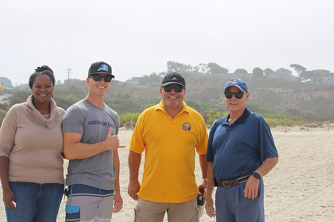 Encinitas Lions Club Board with Urban Surf 4Kids, San Diego Chapter CEO