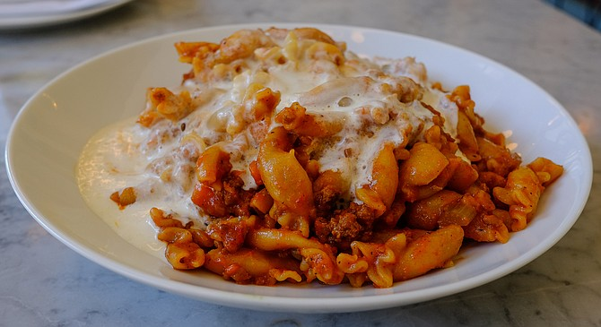 A frothy emulsion indicates this is not the Bolognese of old.