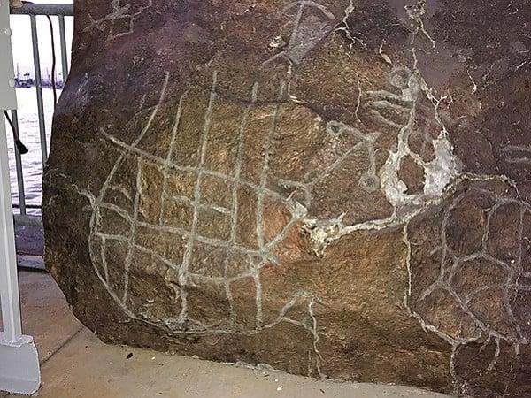 Copy of Kumeyaay petroglyph from Pinto Canyon