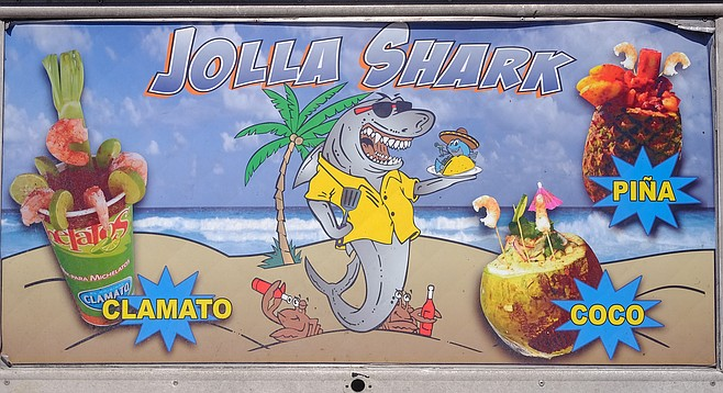 The shark in this food truck's imagery is ready to eat, not be eaten.