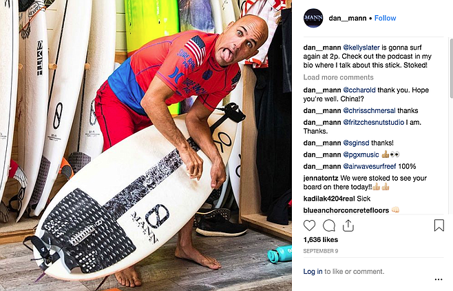 Instagramphoto  of Kelly Slater by Dan Mann