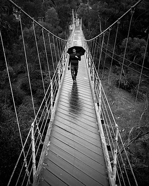 Cuevas also shot the Spruce Street suspension bridge.
