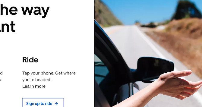 Uber homepage. Over the weekend Jane from El Cajon made just under $1000 – her best weekend in the four years.