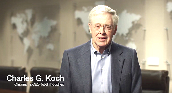 "Charles Koch. ""Our contacts at the Koch Foundation gave us complete independence to run the program the way we saw fit."""