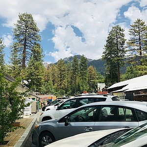 San Jacinto Peak (pictured in the background) is an easy tram ride up from Palm Springs on the Palm Springs Aerial Tramway.