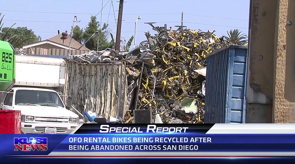 KUSI story about Ofo recycling