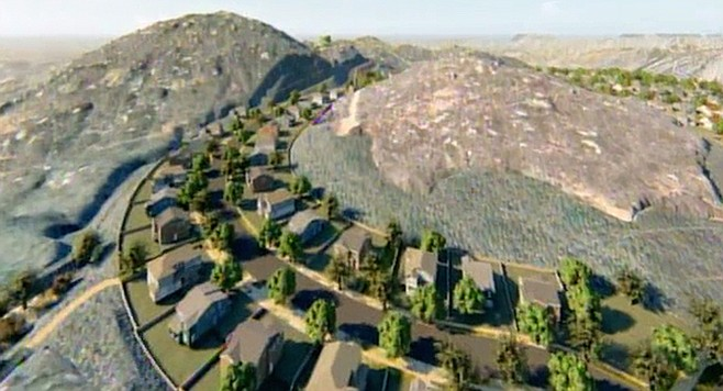 One of seven proposed neighborhoods in the Merriam Mountains.