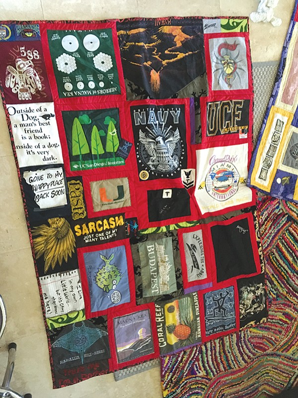 His quilt: lots more text and chuckles