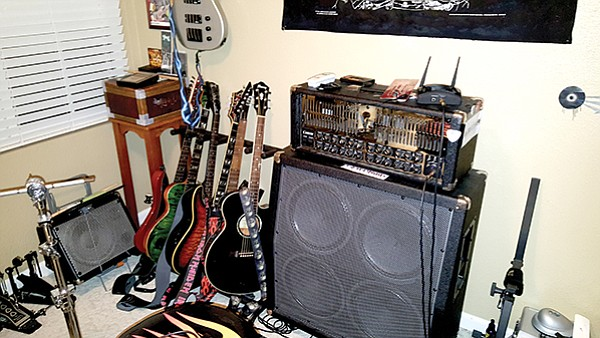 "Keona Lee guitar collection.  ""Each one has a different tone and a different personality."""