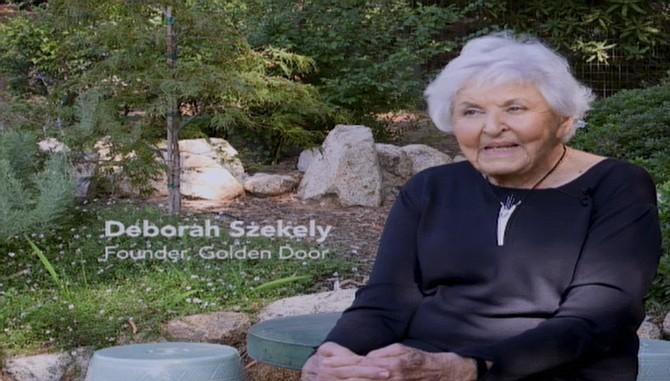Deborah Szekely, Golden Door founder, protests Newland Sierra via video at the meeting today.
