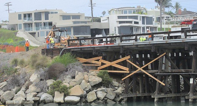 Only two other old wooden train bridges are left in North County.
