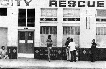 City Rescue Mission. You were required to arrive ten minutes early in order to hear a short sermon.