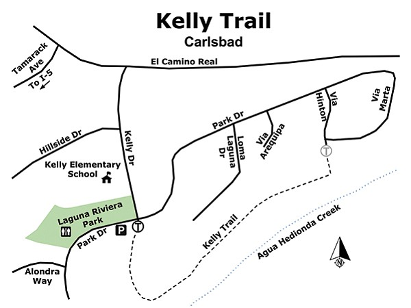 Kelly Trail (city of Carlsbad) map