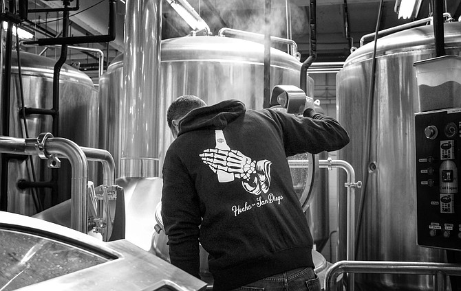 Ryan Brooks brews SouthNorte beer in Tijuana.