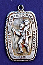 Carr's St. Christopher medal – front