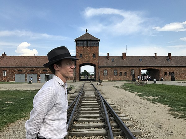 Christopher visited Auschwitz, in Poland, April 2018