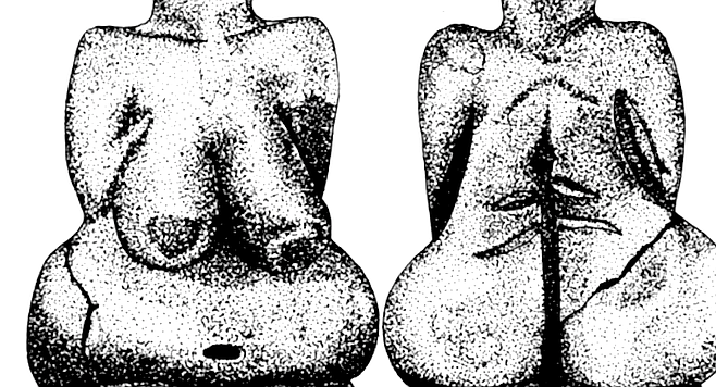 "Venus of Dolni/Vestonice.  ""They have been interpreted as fertility objects, because of the breasts. But then we have found some that are very lean."""