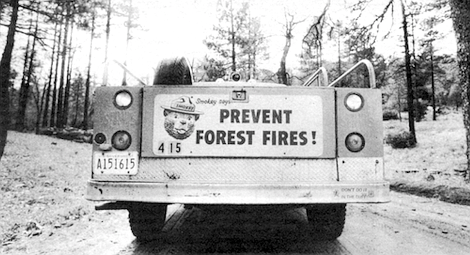 The high fire danger in the Cleveland is in part attributable to the forest service's Smokey the Bear fire policy.