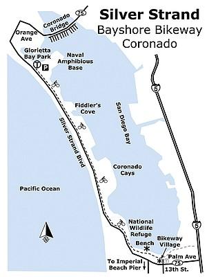 Silver Strand Bayshore Bikeway Map