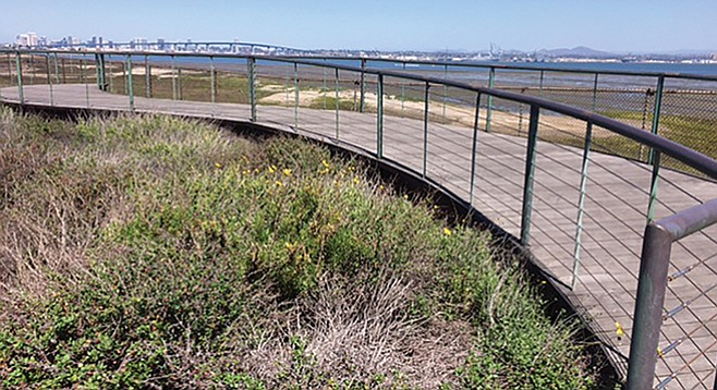 See more of the south bay from this footbridge