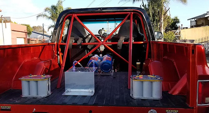 Nitrous tanks in truck bed