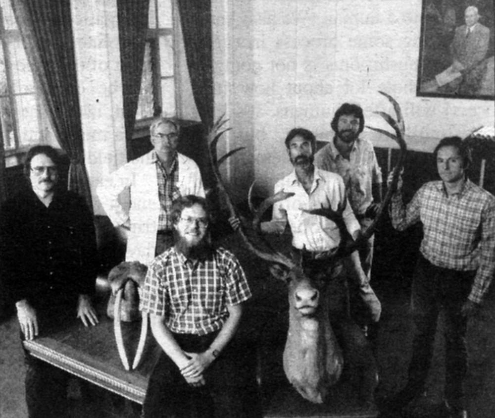 David Faulkner, Frederick Schram. Geoff Levin, Amadeo Rea, Gregory Pregill, Tom Demere.