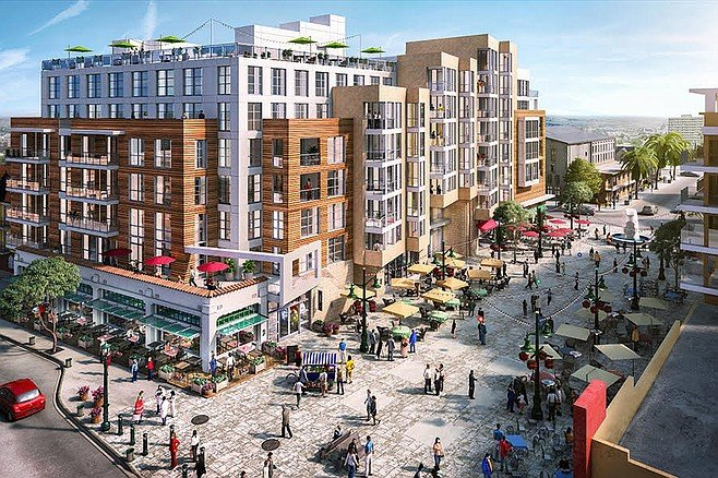 A one-bedroom apartment will be around $2,900 a month at Fenton project (Vici) on the site of the former  Reader building in Little Italy.
