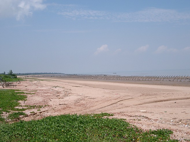 Kinmen's Lung Kou beach, where Chinese Nationalists made a last stand in the Battle of Guningtou in 1949.