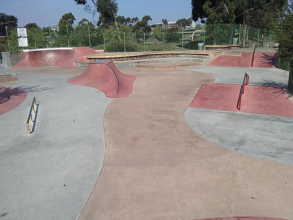 Half of the Central Avenue Mini Park is devoted to a skate area.