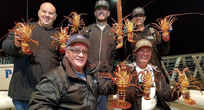 14 spiny lobsters for five hoop-netters aboard the Josie Lynn's October 13 trip