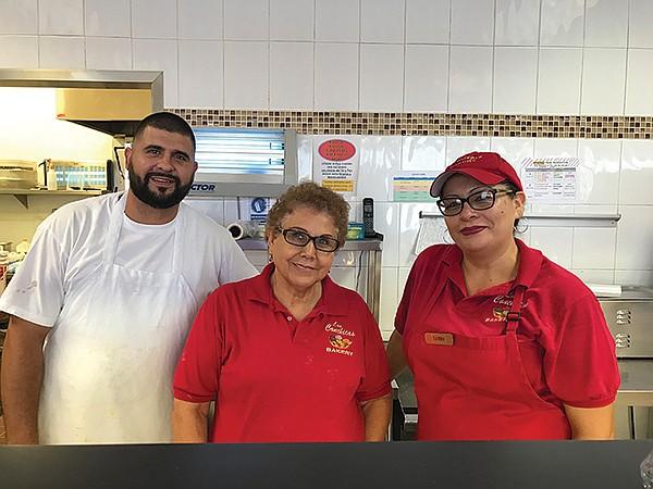 Cesar the baker, Berta Jiménez the owner, Cathy the manager (and Cesar's wife)