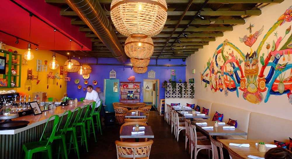 Colorful interiors, inspired by Mexico City