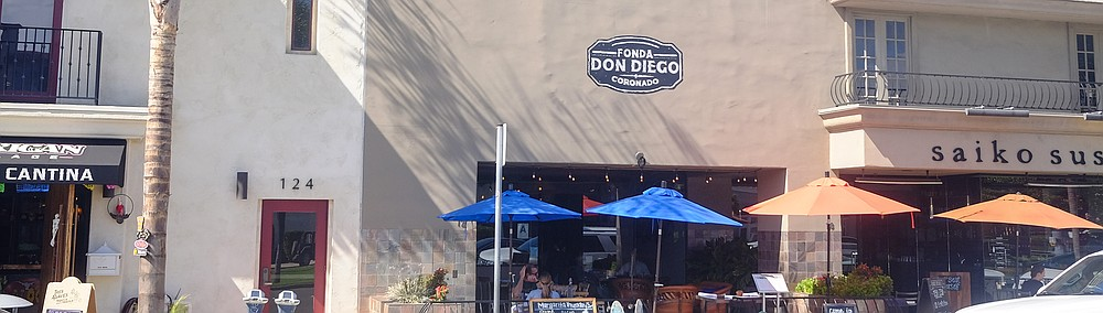 A Mexican restaurant near the Coronado Ferry Landing