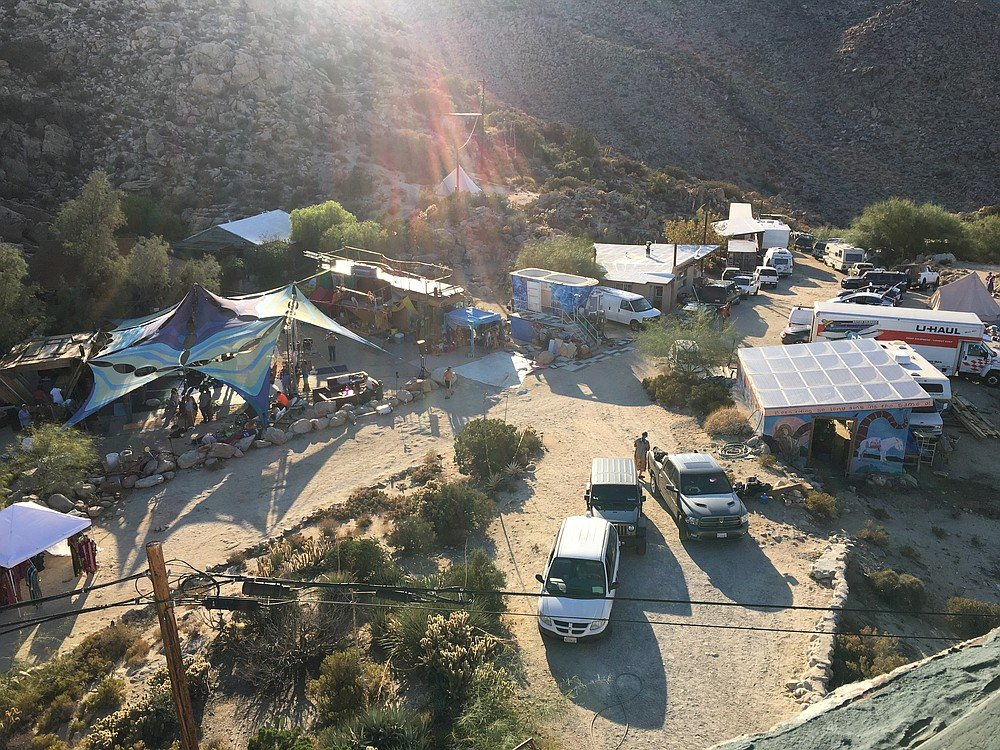 Attendees brought small RVs, or slept in their cars, or set up tent camps.