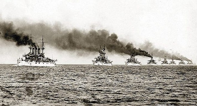 The Great White Fleet visited San Diego in 1908.