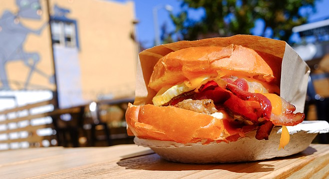 This sandwich doesn't look as damp as it feels.