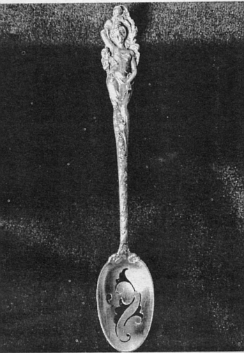 Olive Spoon, Love Disarmed, by Reed&Barton;, c. 1889