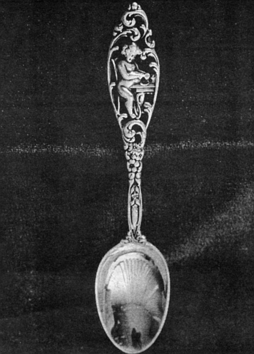 Teaspoon, Labors of Cupid by Dominick & Haff, c.1900