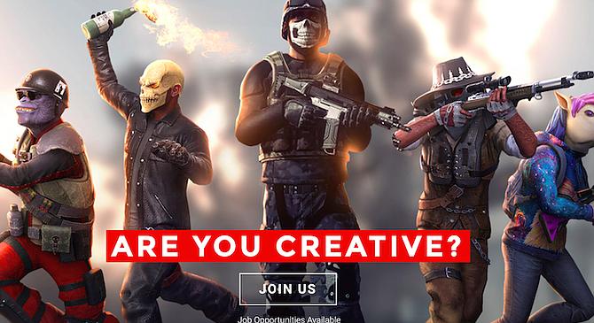 Daybreak Game Company recruiting ad