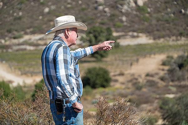 Winemaker Bill Clarke of Campo Creek Winery.